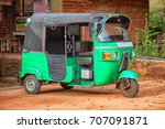 a small car with three wheels.... | Shutterstock . vector #707091871