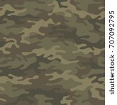 seamless camouflage pattern....   Shutterstock .eps vector #707092795