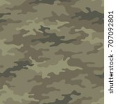 seamless camouflage pattern....   Shutterstock .eps vector #707092801