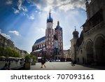 krakow's cathedral. | Shutterstock . vector #707093161