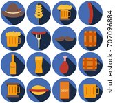 octoberfest icons and patterns... | Shutterstock .eps vector #707096884