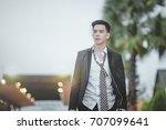 asian business employee feeling ... | Shutterstock . vector #707099641