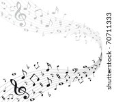 music notes background | Shutterstock .eps vector #70711333
