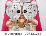 concept vision testing. child... | Shutterstock . vector #707121289