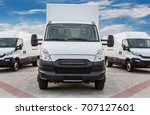transport truck and minivans... | Shutterstock . vector #707127601