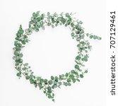 found frame made of eucalyptus...   Shutterstock . vector #707129461