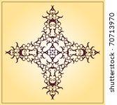 vintage christian cross | Shutterstock .eps vector #70713970