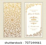 wedding invitation cards ... | Shutterstock .eps vector #707144461