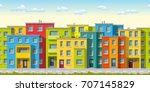 illustration of colorful modern ... | Shutterstock .eps vector #707145829