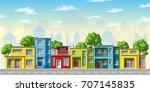 illustration of colorful modern ... | Shutterstock .eps vector #707145835