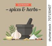 vector illustration of culinary ... | Shutterstock .eps vector #707150407