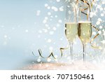 new years eve celebration... | Shutterstock . vector #707150461