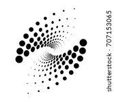 oval logo design. vector... | Shutterstock .eps vector #707153065