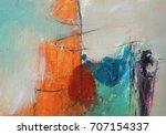 textured abstract painting.... | Shutterstock . vector #707154337