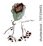 halloween party background.... | Shutterstock .eps vector #707154451