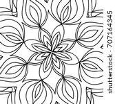 oriental floral pattern.  ... | Shutterstock . vector #707164345