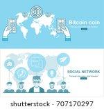 online bitcoin payment concept. ...   Shutterstock .eps vector #707170297