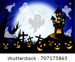 halloween. castle on the dais ...