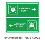 emergency evacuation assembly... | Shutterstock .eps vector #707176921