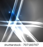 energy lines  glowing waves in... | Shutterstock .eps vector #707183707