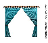 curtain opened decorative of... | Shutterstock .eps vector #707190799