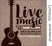 vector poster with acoustic... | Shutterstock .eps vector #707201671
