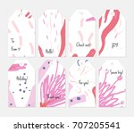 hand drawn creative tags....   Shutterstock .eps vector #707205541