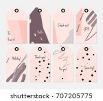 hand drawn creative tags.... | Shutterstock .eps vector #707205775
