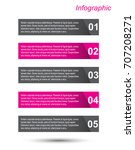 modern design template  can be... | Shutterstock .eps vector #707208271