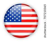 united states flag vector round ...