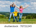 young family having a walk in...   Shutterstock . vector #70721245