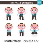 cartoon character of a man in... | Shutterstock .eps vector #707215477