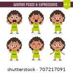 cartoon character of a black... | Shutterstock .eps vector #707217091