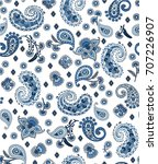 seamless paisley pattern in... | Shutterstock .eps vector #707226907
