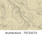 abstract topographic map in... | Shutterstock . vector #70723273