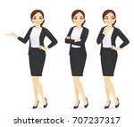businesswoman | Shutterstock .eps vector #707237317