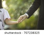 a picture of a father and... | Shutterstock . vector #707238325