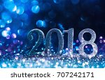 new year decoration  closeup on ... | Shutterstock . vector #707242171