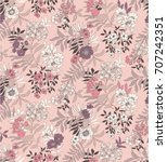seamless floral pattern in... | Shutterstock .eps vector #707242351