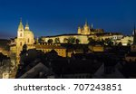 prague castle at night | Shutterstock . vector #707243851