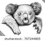 black and white engrave...   Shutterstock .eps vector #707244805