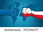 eu versus poland | Shutterstock .eps vector #707246377