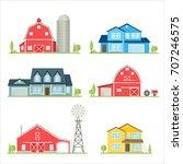 vector flat icon suburban... | Shutterstock .eps vector #707246575