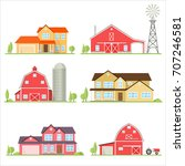 vector flat icon suburban... | Shutterstock .eps vector #707246581