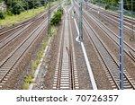 lines of rails | Shutterstock . vector #70726357