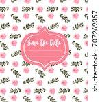 wedding invitation template... | Shutterstock .eps vector #707269357