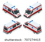transport isometric set... | Shutterstock .eps vector #707274415