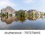 houses in houston suburb... | Shutterstock . vector #707276641