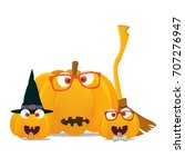 vector illustration  halloween... | Shutterstock .eps vector #707276947