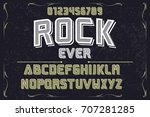 font typeface handcrafted... | Shutterstock .eps vector #707281285